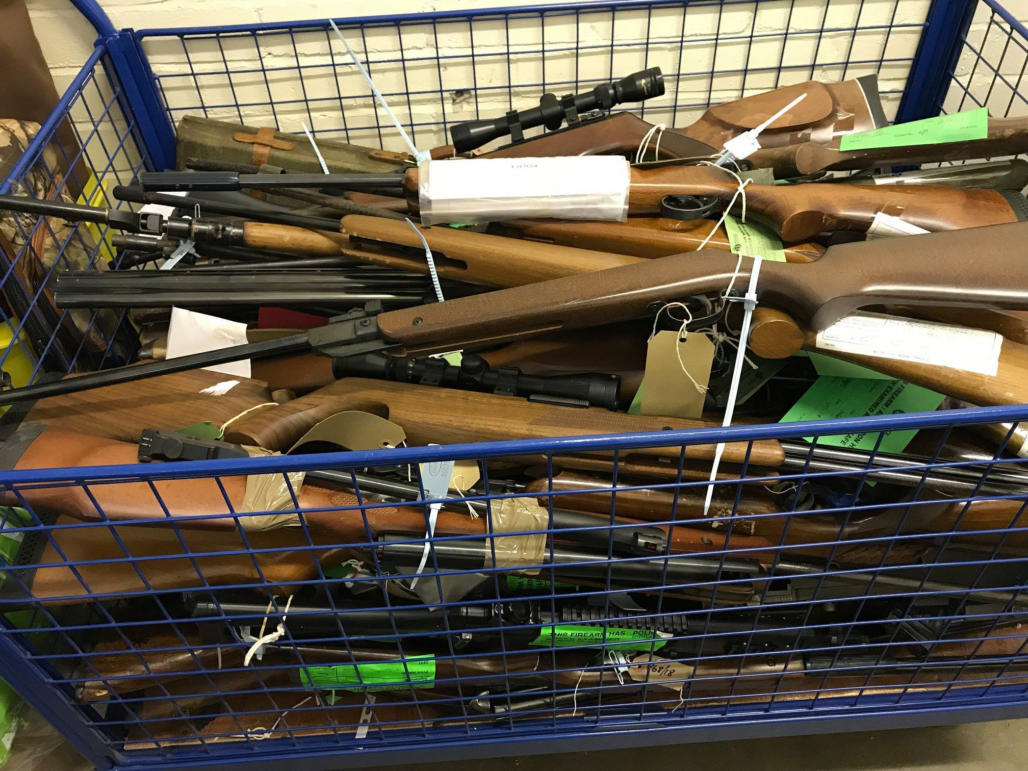 Residents across the region handed in a haul of 10 air guns, five shotguns, two rifles and five pistols since the #gunssurrender campaign began on Monday