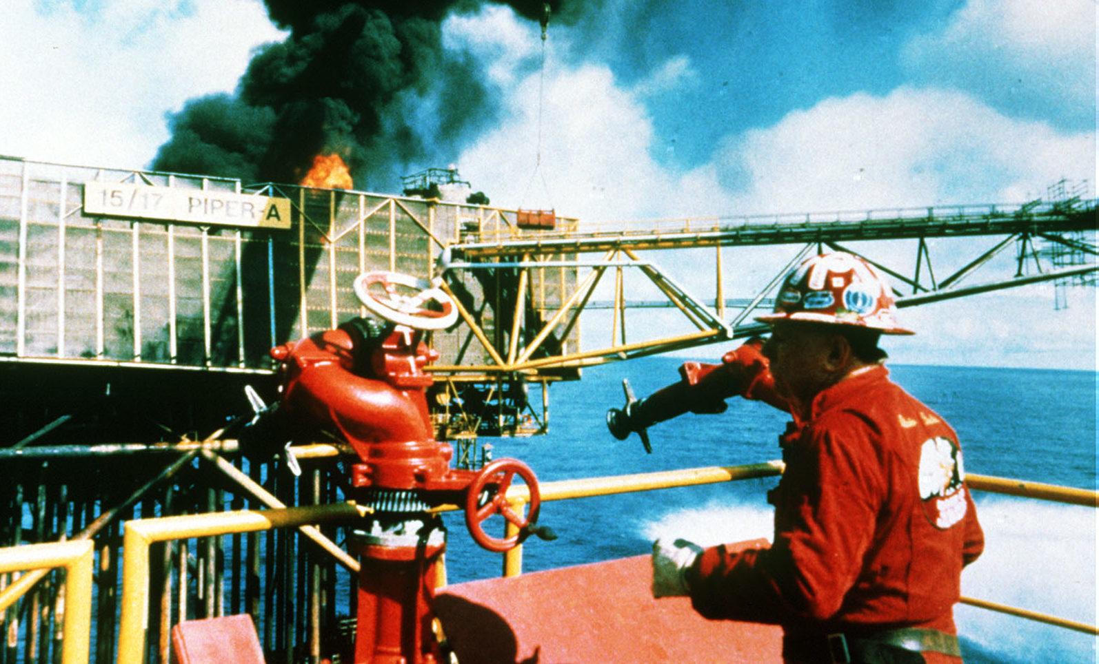 Texan oil well firefighter Red Adair orchestrated the operation to 'kill' Piper Alpha's burning wells.