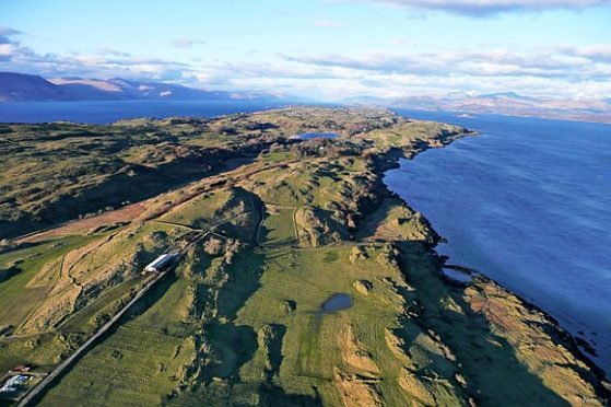 """An aerial view of Lismore in the Inner Hebrides, where islanders are """"shocked"""" at the housebreaking which occurred"""