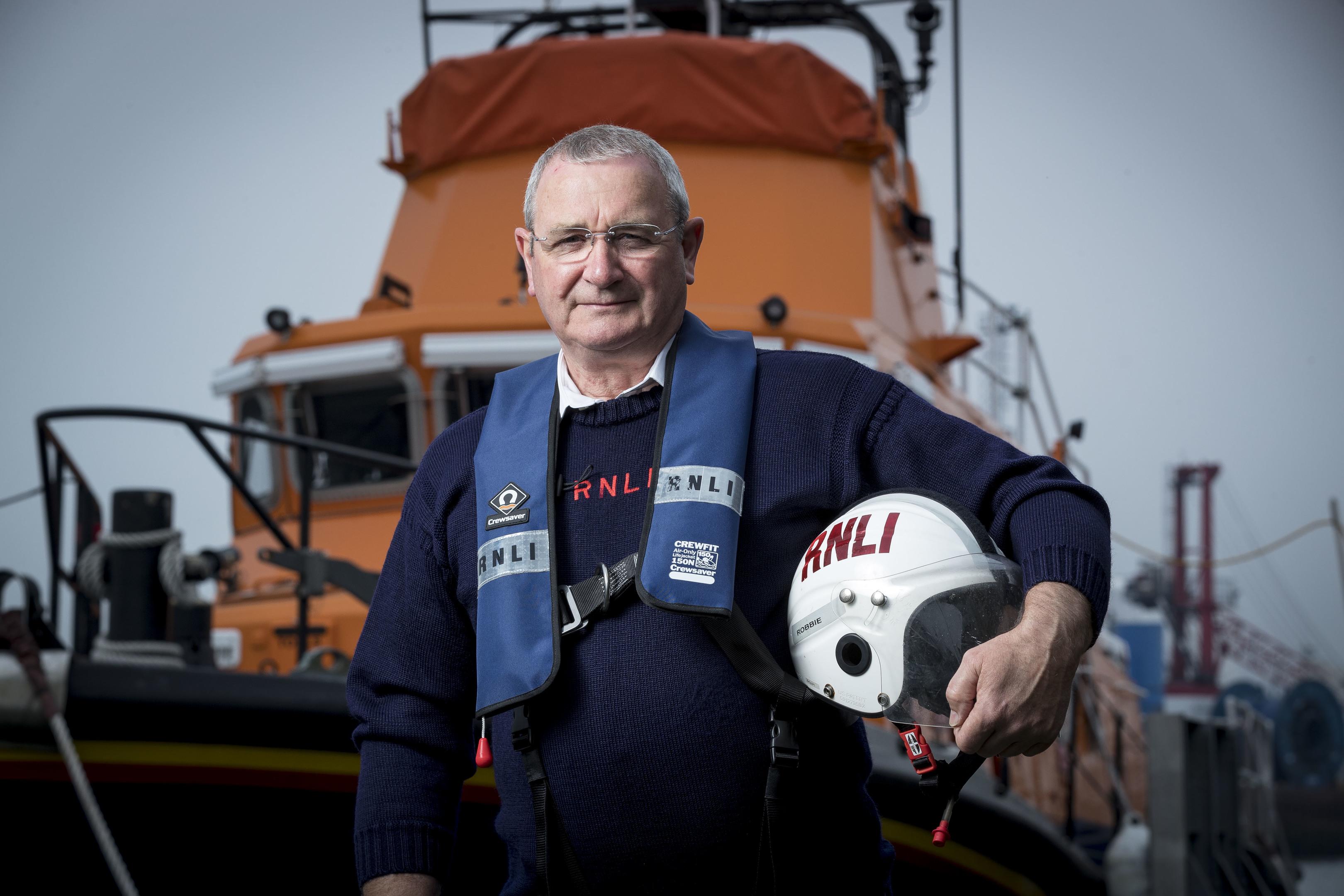 Aberdeen RNLI's Bill Dean has been given an MBE