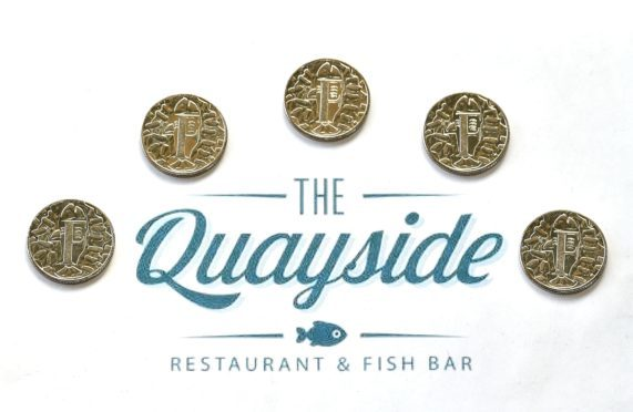 The Quayside Chip Shop has been chosen to help distribute the limited edition 10p FishnChips coin.