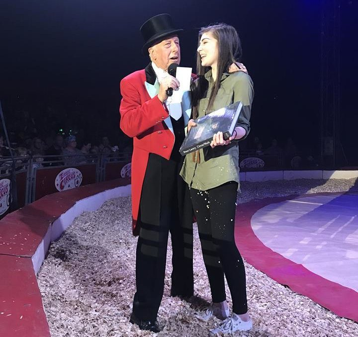 Camryn Forman won the competition celebrating World Circus Day.