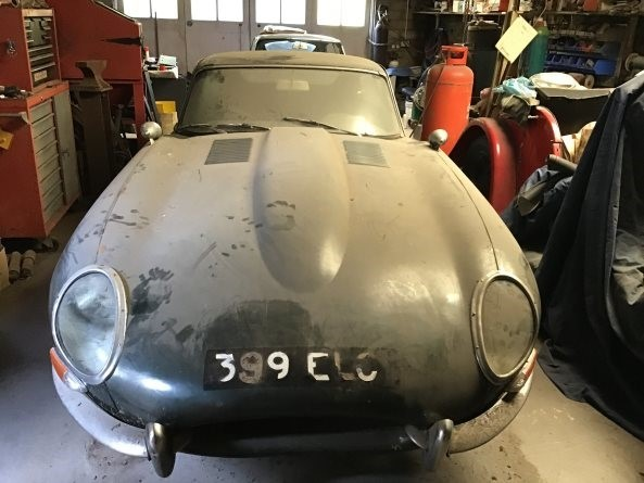 The Jaguar E-Type had been hiding in a shed for more than 30 years.