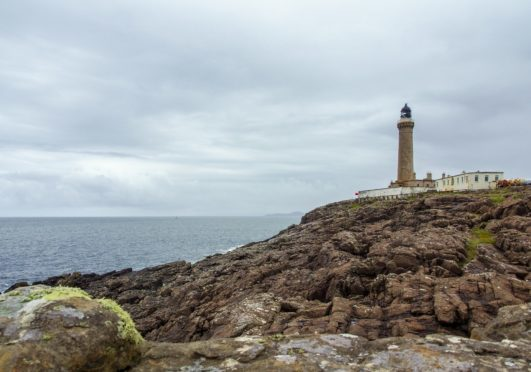 Ardnamurchan Lighthouse where the coastal teams searched for the missing dog.
