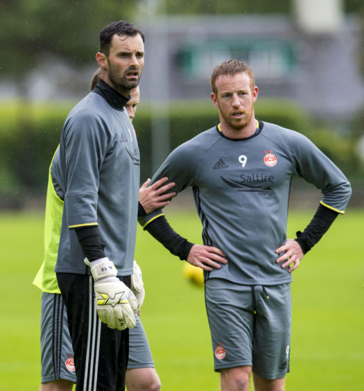 With Joe Lewis at pre-season training at St Andrews in 2016.