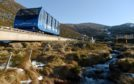 The funicular railway at Cairngorm Mountain.