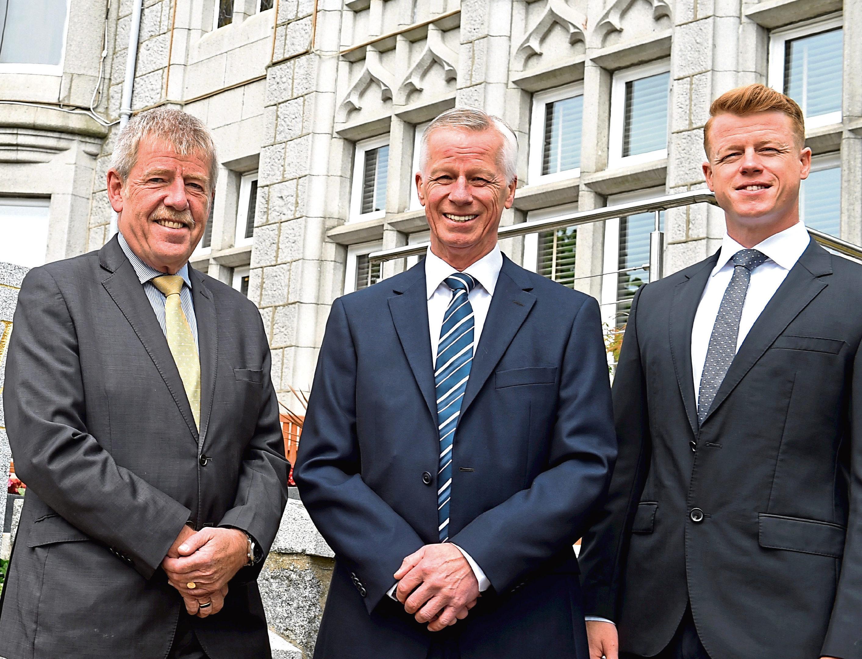 The owners of the Atholl Hotel, Kingsgate, Aberdeen - Gordon Sinclair, Gordon Nicoll and Richard Nicoll.