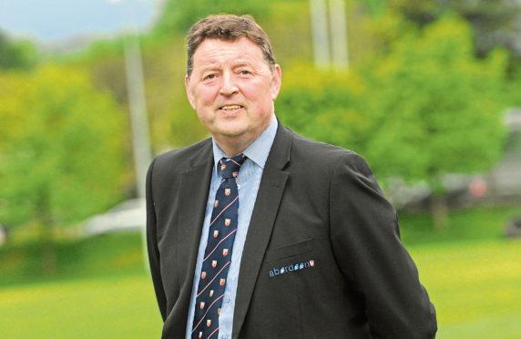Aberdeen Grammar rugby team's Chairman Gordon Thomson.