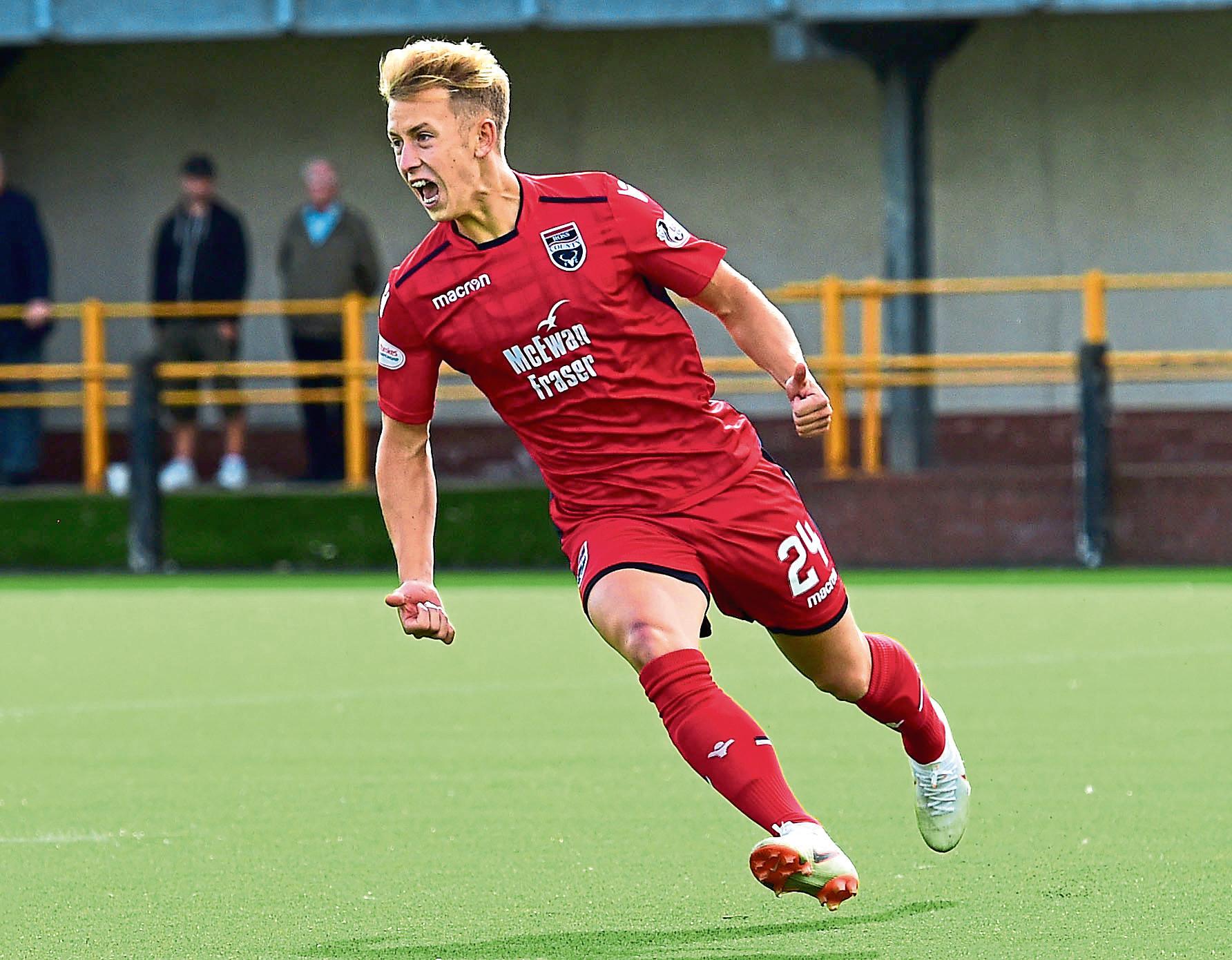 Ross County midfielder Harry Paton.