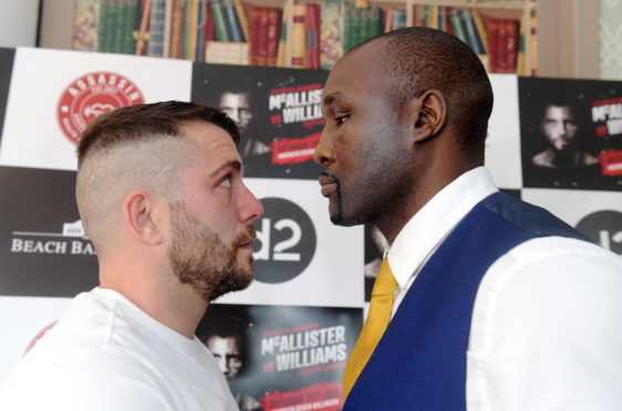 Lee McAllister is facing Danny Williams at the Beach Ballroom on July 28.