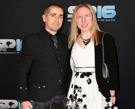 Lora Fachie and husband Neil.