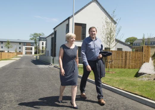 Co-leaders Jenny Laing and Douglas Lumsden at the Smithfield site