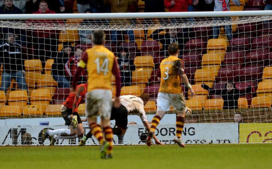 Adam Rooney puts the ball in the back of the net to level the score on his debut. on January 25, 2014.