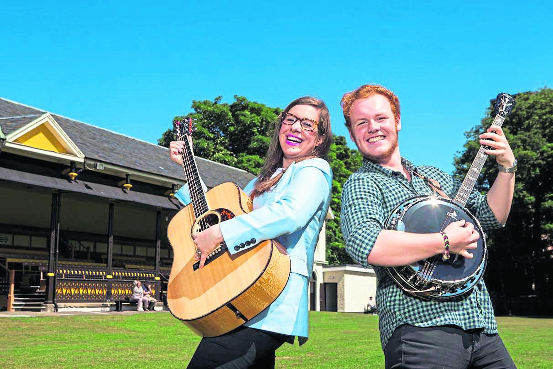 Verity Blanchard, Event Scotland and Lachie Robinson, BLAS Festival Young Ambassador.