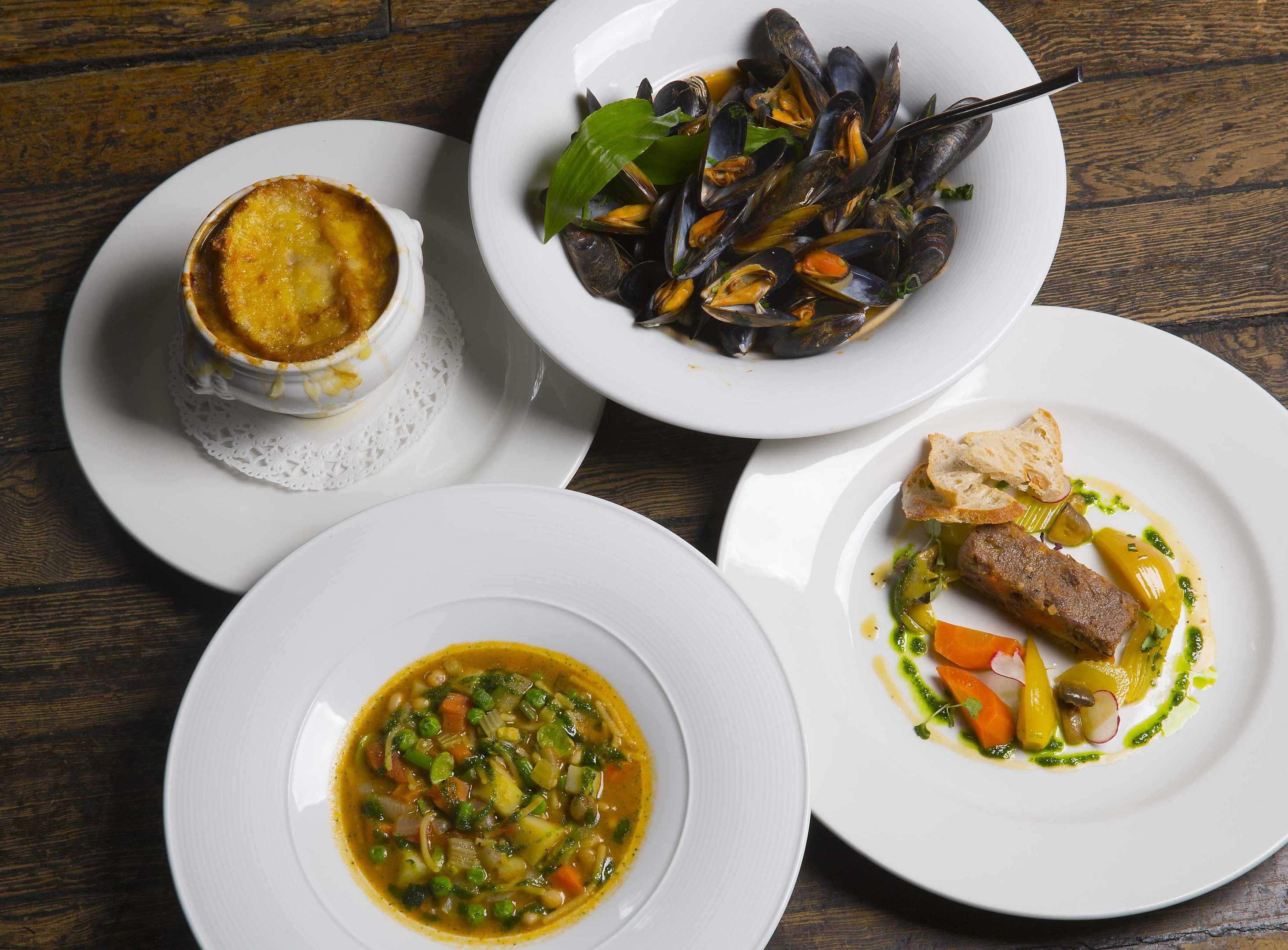 Items from the Cafe Boheme menu laid on during Aberdeen Restaurant Week in February 2018