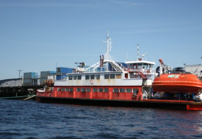 The converted vessel at The Underwater Centre