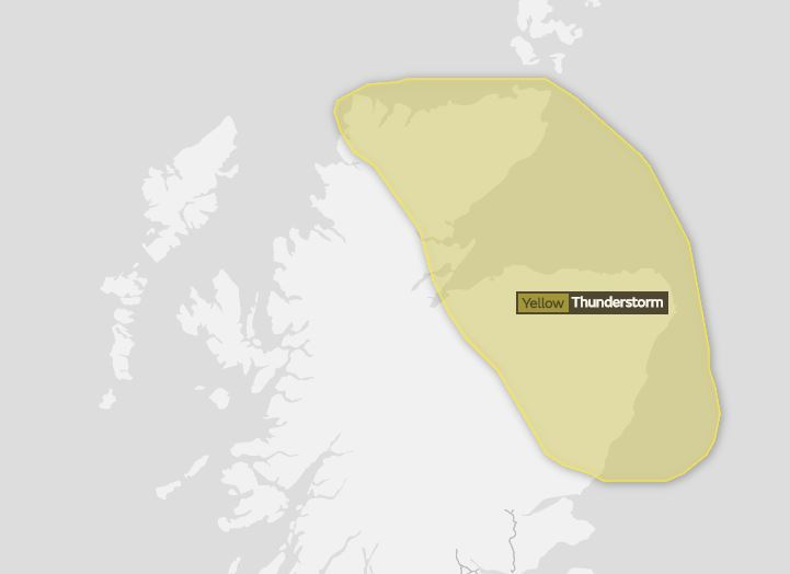 Met Office issue weather warning.