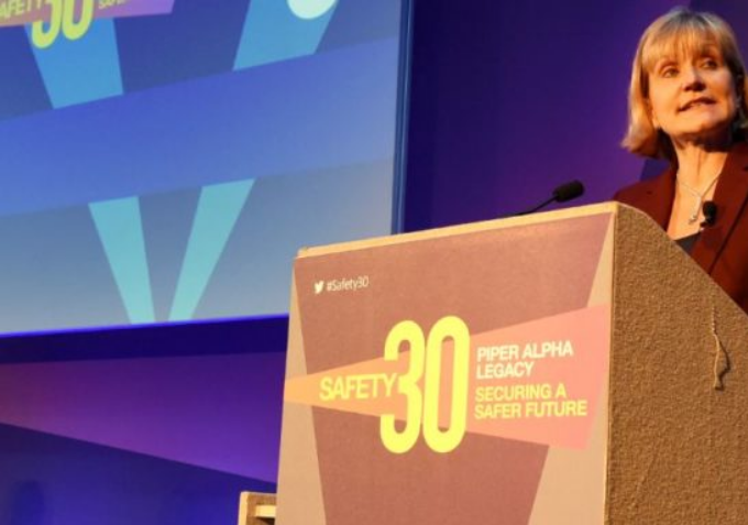 Deidre Michie speaking at the recent Safety 30 conference in Aberdeen