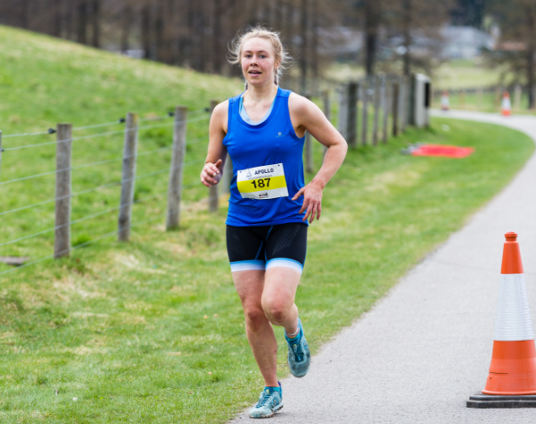 Coralie Arthur won the Apollo Duathlon Run Balmoral in April.