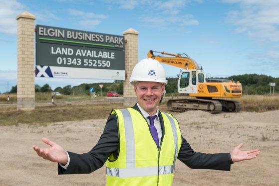 The Scottish Government's Finance Minister Derek Mackay visits Elgin Business Park.