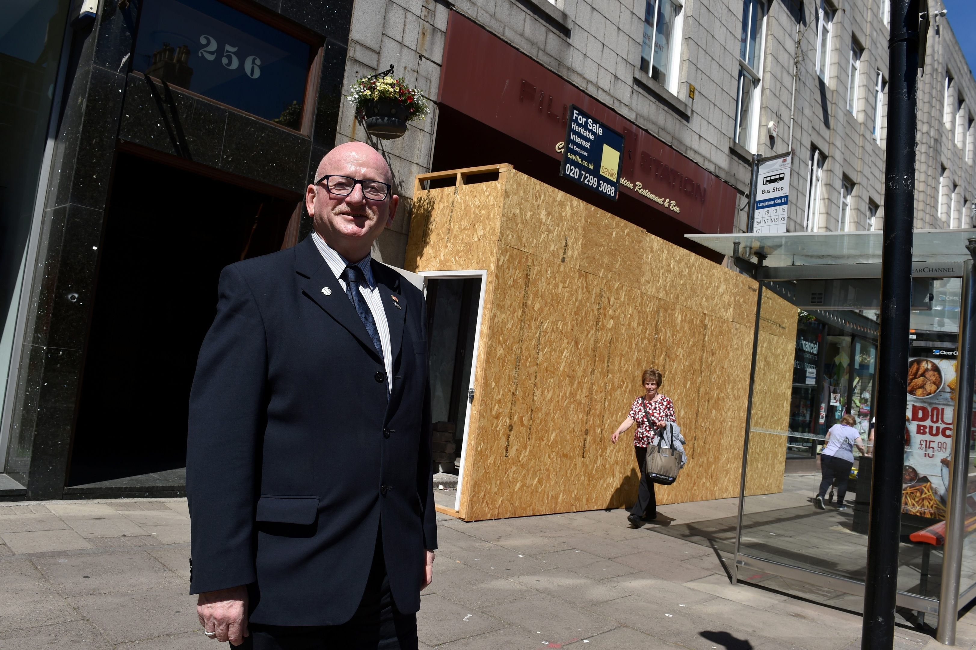 Deputy provost Alan Donnelly at the former Filling Station pub which is to be turned into a speakeasy.