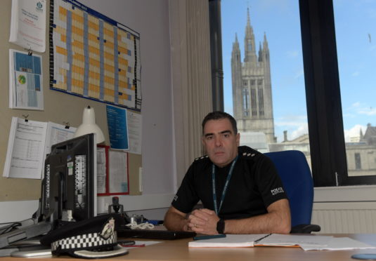 Aberdeen South Chief Inspector Martin Mackay. 28/09/2017. Picture by KATH FLANNERY