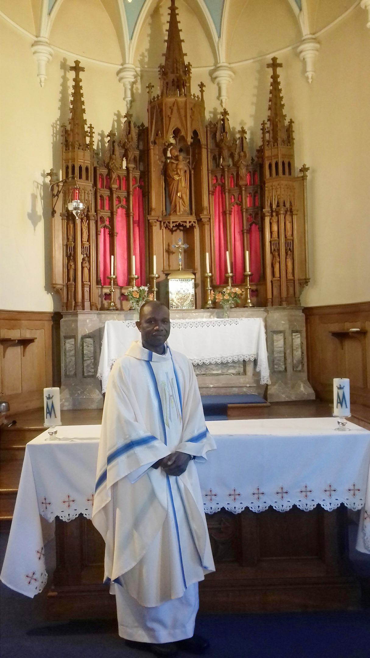 Fr. Francis Okoro has been appointed priest-in-charge of the parish of Our Lady of Mount Carmel (OLMC), Sandyhill Road,  in Banff.