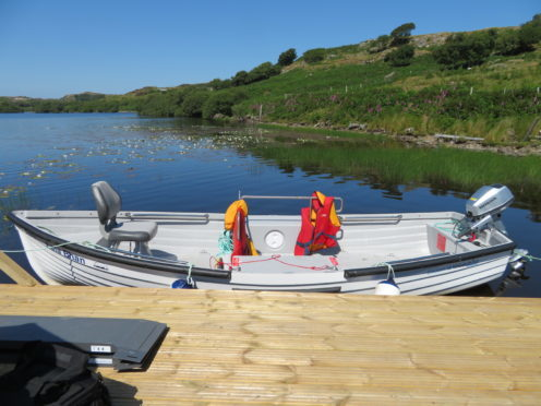 The Assynt Crofters Trust' new Wheelyboat, capable of hosting two wheelchairs.