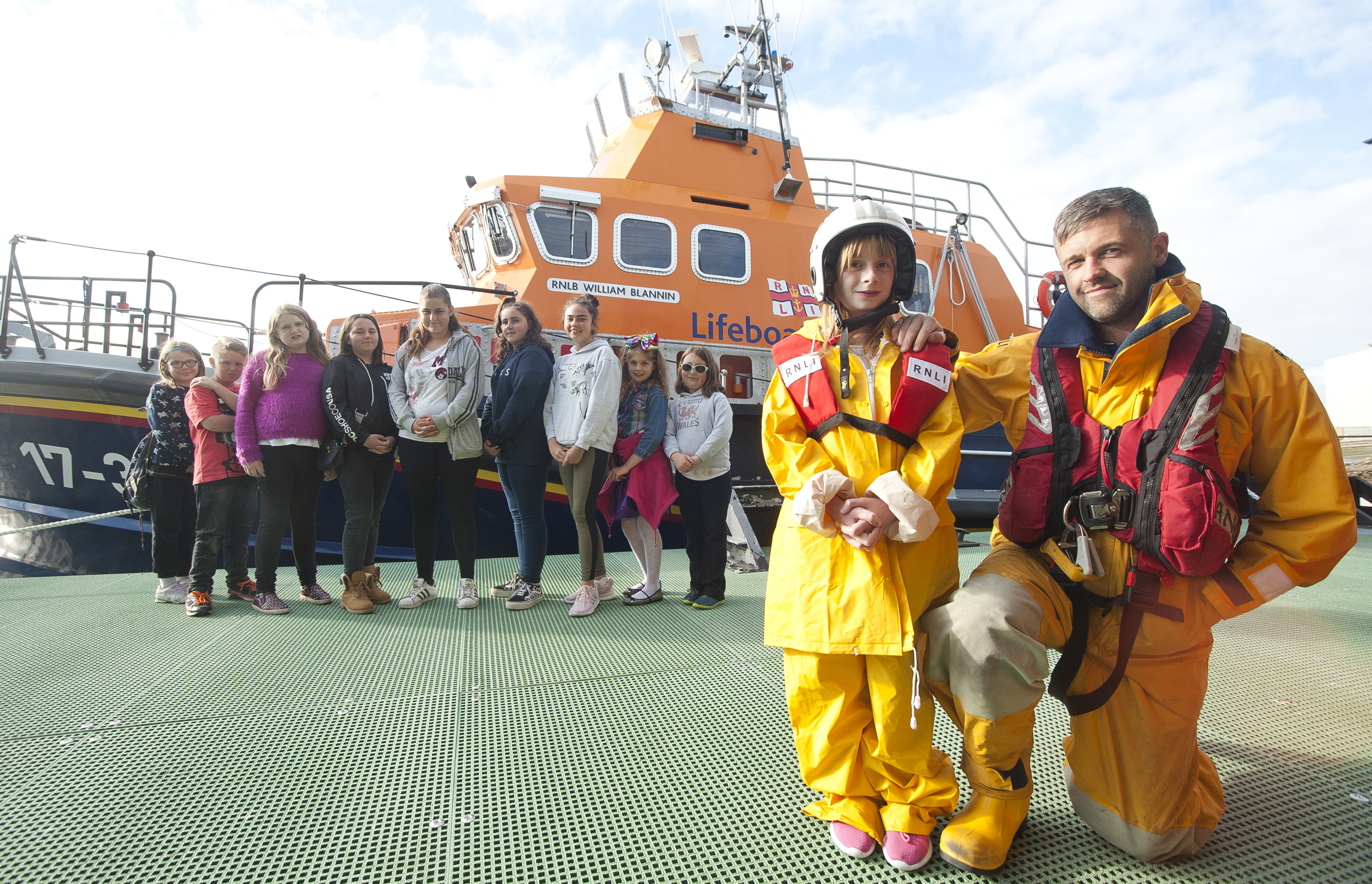 Quarriers support young carers by offering them trips. In photo Brian Forbes from RNLI Buckie lifeboat crew.