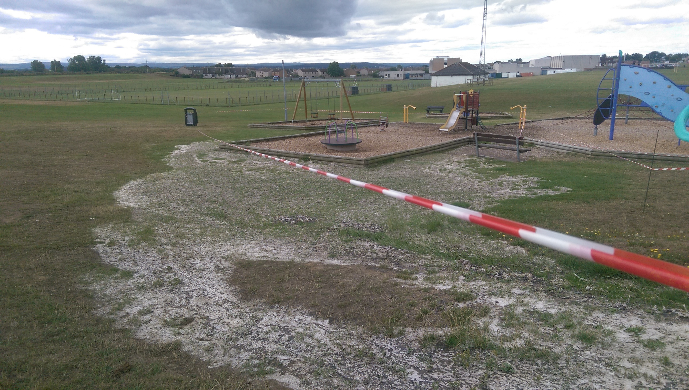 The play park has been sealed off at Coulardbank Road.