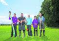 Young Leader Fahmad Askari, Sinclair Patience, Jeni Herbert from HighLife Highland, Young Leader Zaigham Askari and Charlie Murray