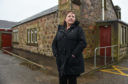 Picture by JASON HEDGES      Pictures show Councillor Sonya Warren outside of Findochty town hall.