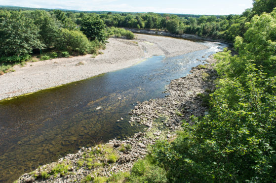 The River Findhorn in Moray,