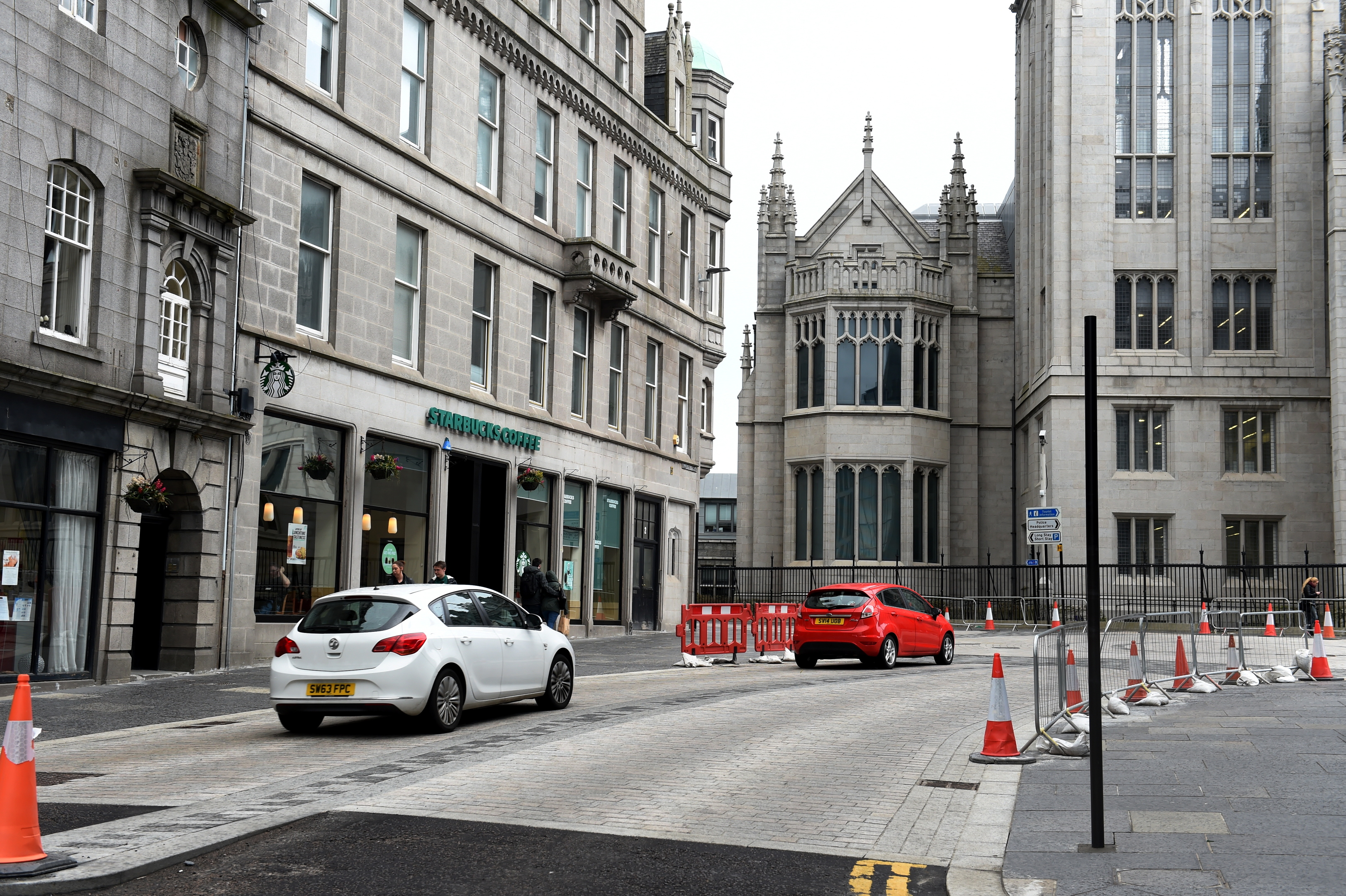 A new mini-roundabout at Upperkirkgate has caused signage concerns