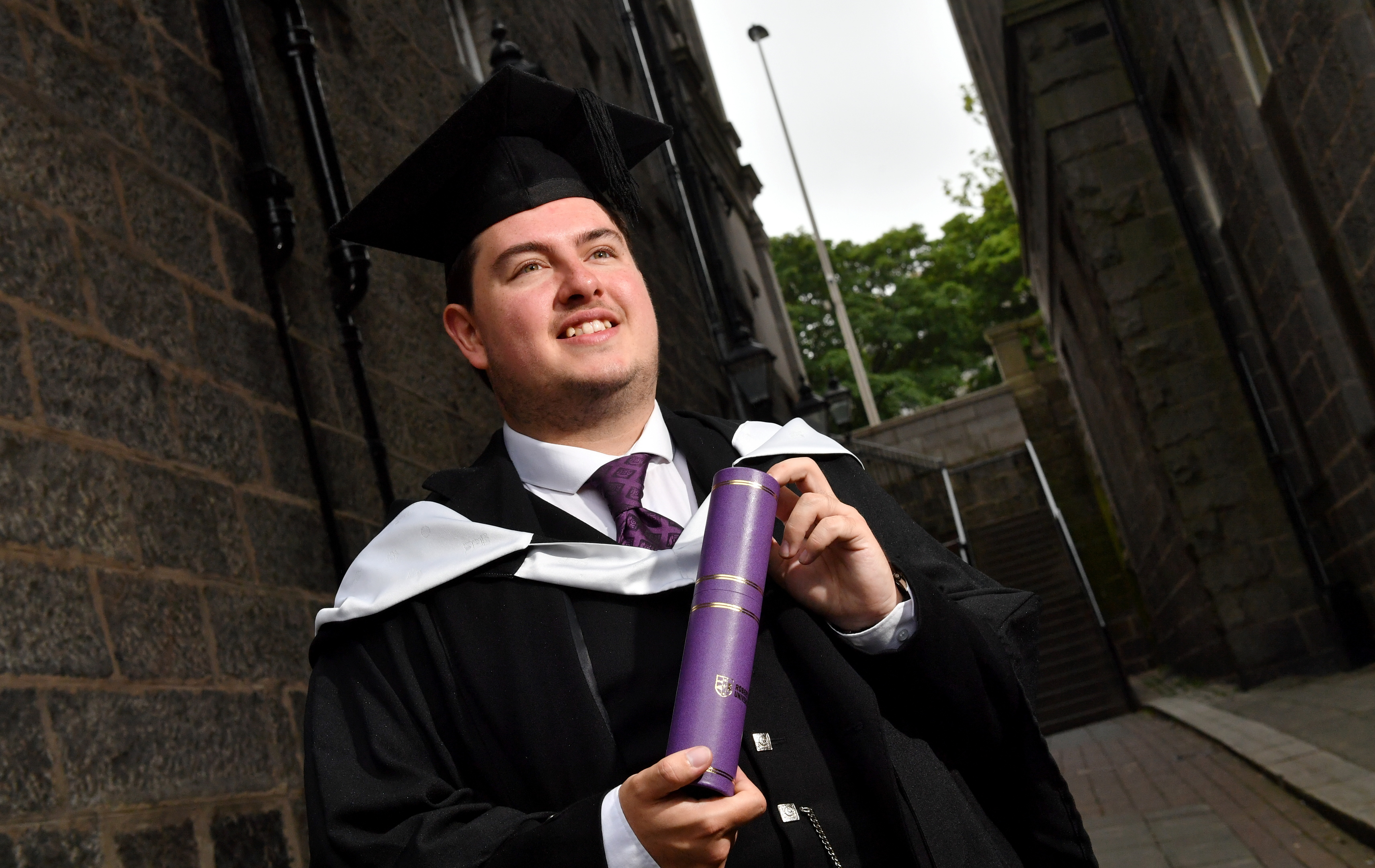 Edward Pollock graduated from RGU yesterday