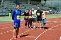 Commonwealth games marathon medal winner Robbie Simpson with Great Aberdeen Run competitors