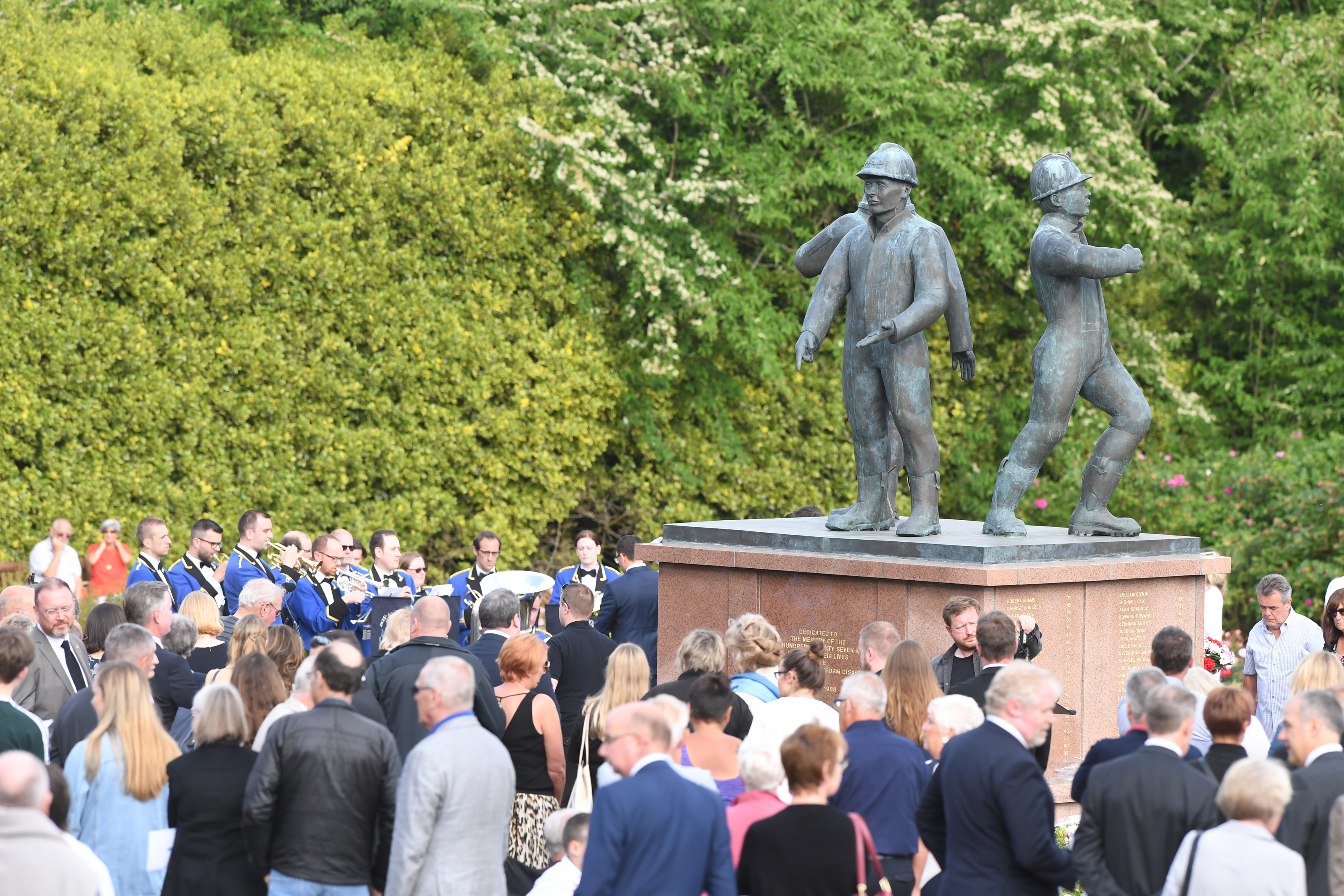 Piper Alpha memorial service at Hazlehead park in Aberdeen.