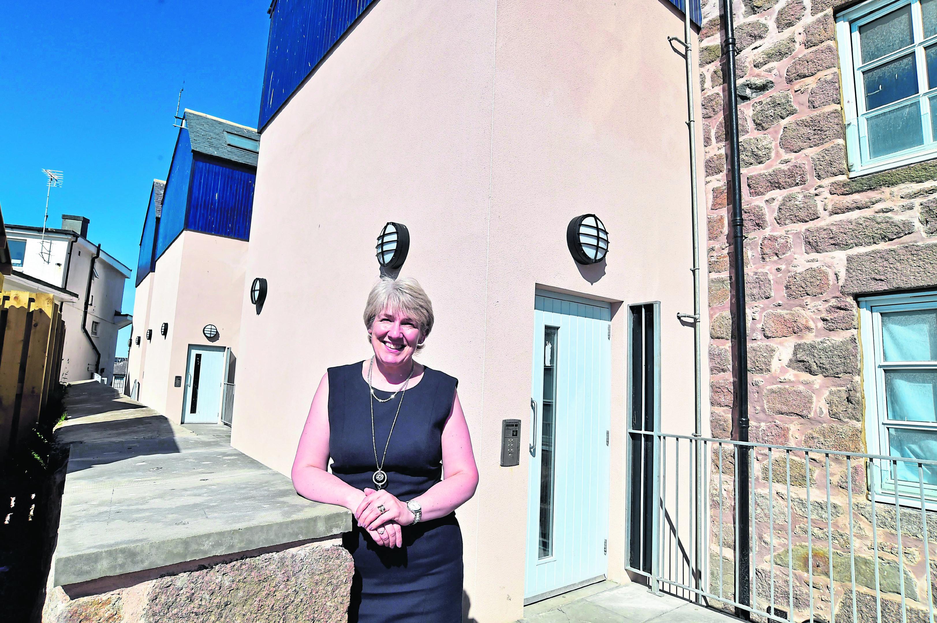 Langstane CEO Helen Gauld at the new housing development in Peterhead.