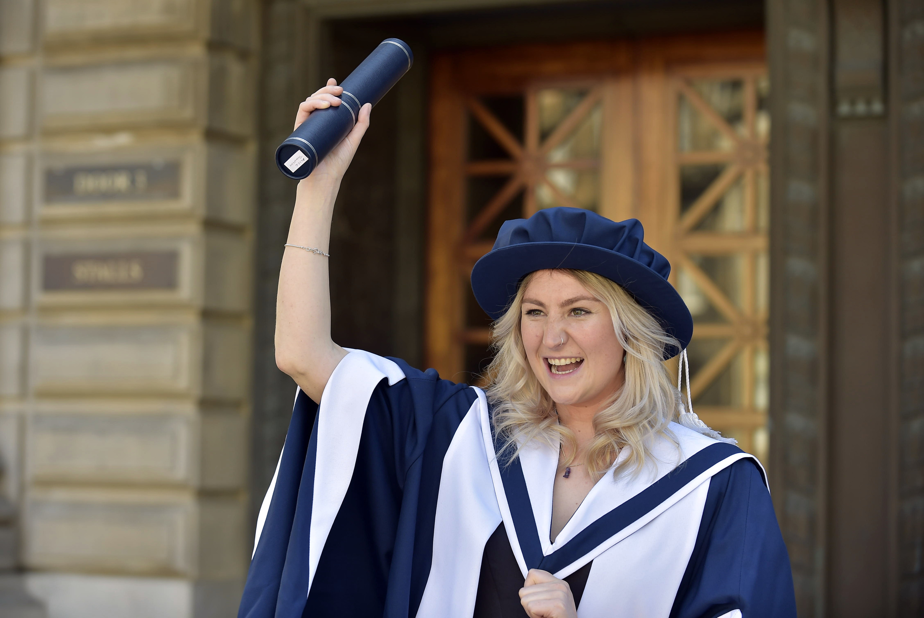 © Sandy young Photography 07970 268944 honorary degrees from Queen Margaret University. PICTURED  Alice Thompson , co-founder of Social Bite with her honorary degree at the Usher Hall, Edinburgh.  E: sandyyoungphotography@gmail.com W: www.scottishphotographer.com **Editorial use only**no photo sales**no marketing** credit must read scottishphotographer.com**