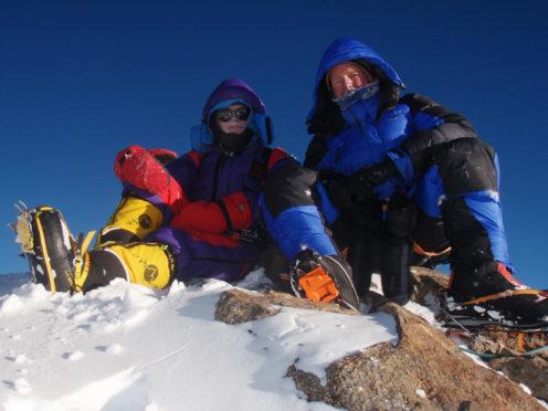 Rick Allen and Sandy Allan on summit