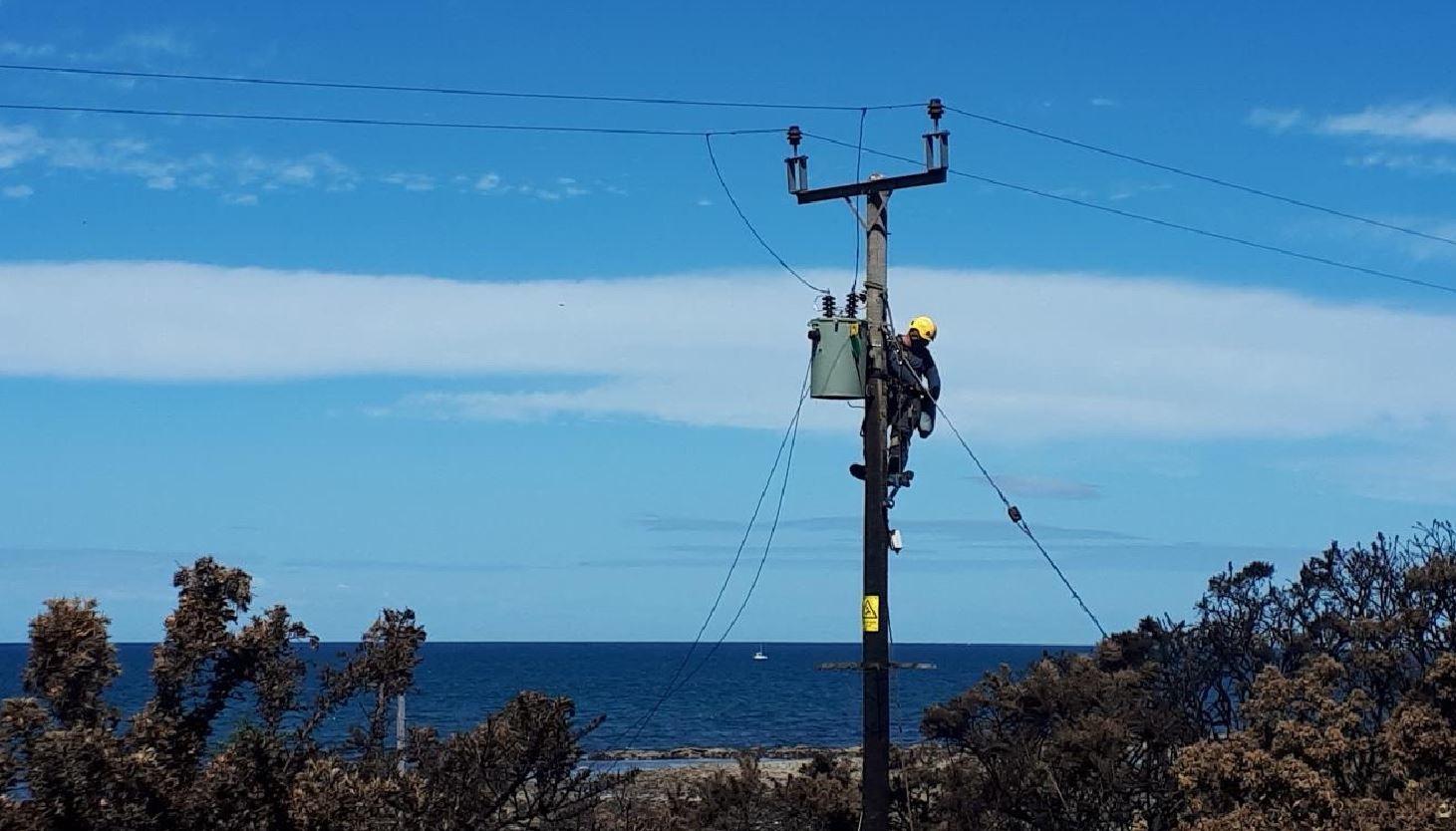 SSEN has repaired pylons at Portgordon.