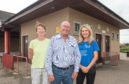 Lossiemouth Community Council members Marian Evansr, Mike Mullholland, and Carolle Ralph at the Station Park toilets.