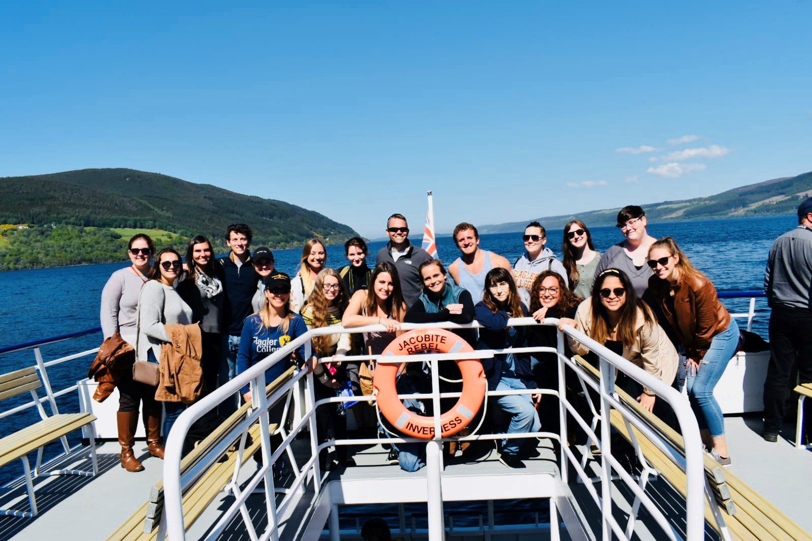 Students from Flagler College visit Loch Ness