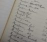 A notebook containing the names of weavers from the 1930s and 50s was uncovered