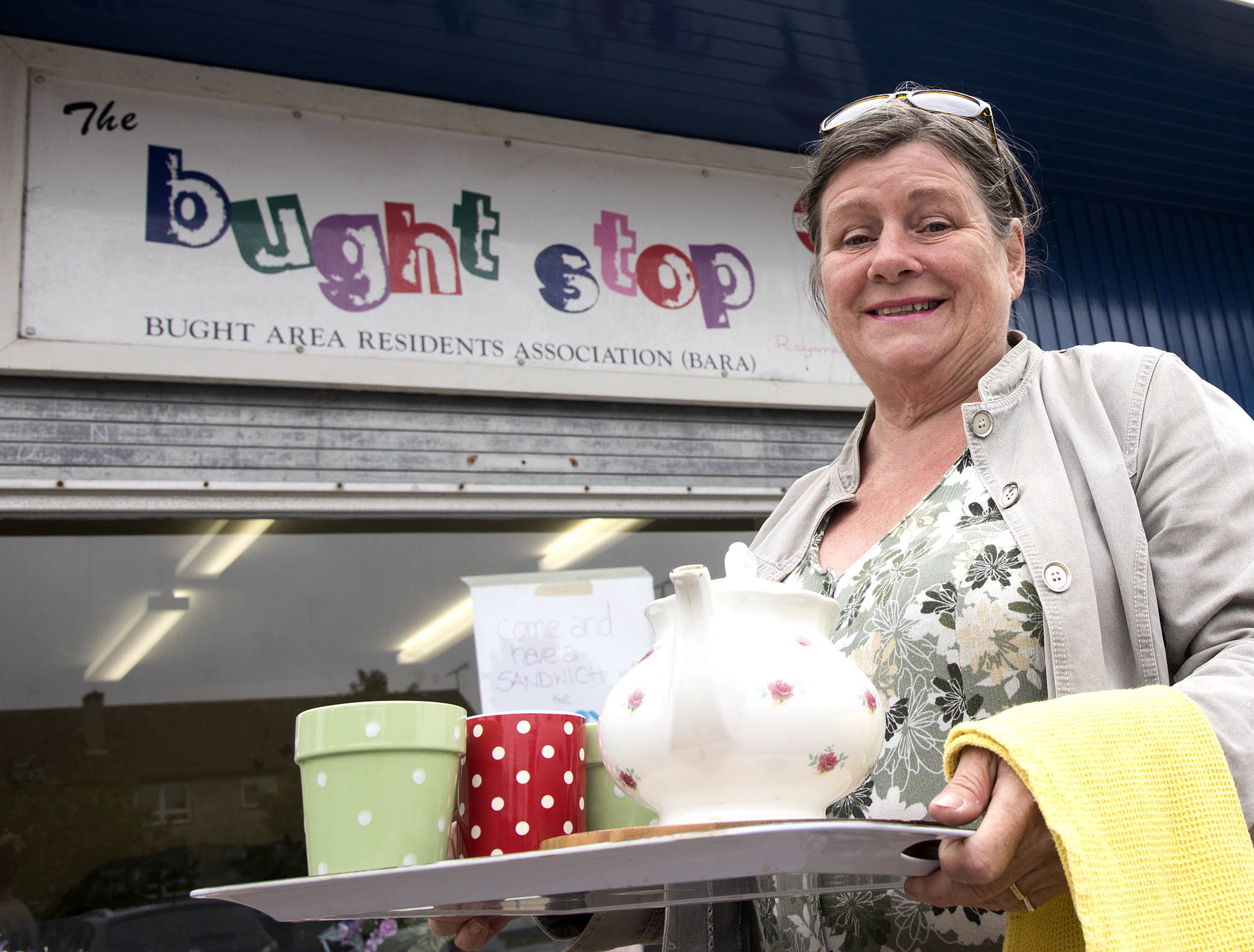 Kate MacLean, organiser of the event, at the Bught Stop drop in centre.