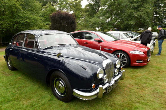 Grampian Region of the Jaguar Enthusiasts Club Annual Gathering and Car Show at Drum Castle.