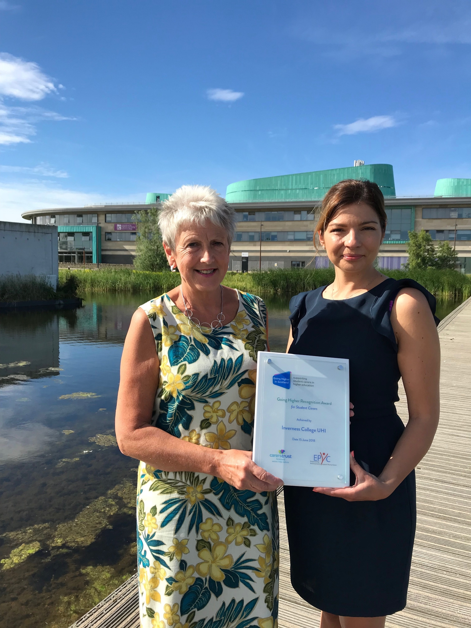 Evelyn Campbell and Anna Czekala of Inverness College UHI