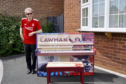 The piano will be sold off to charity