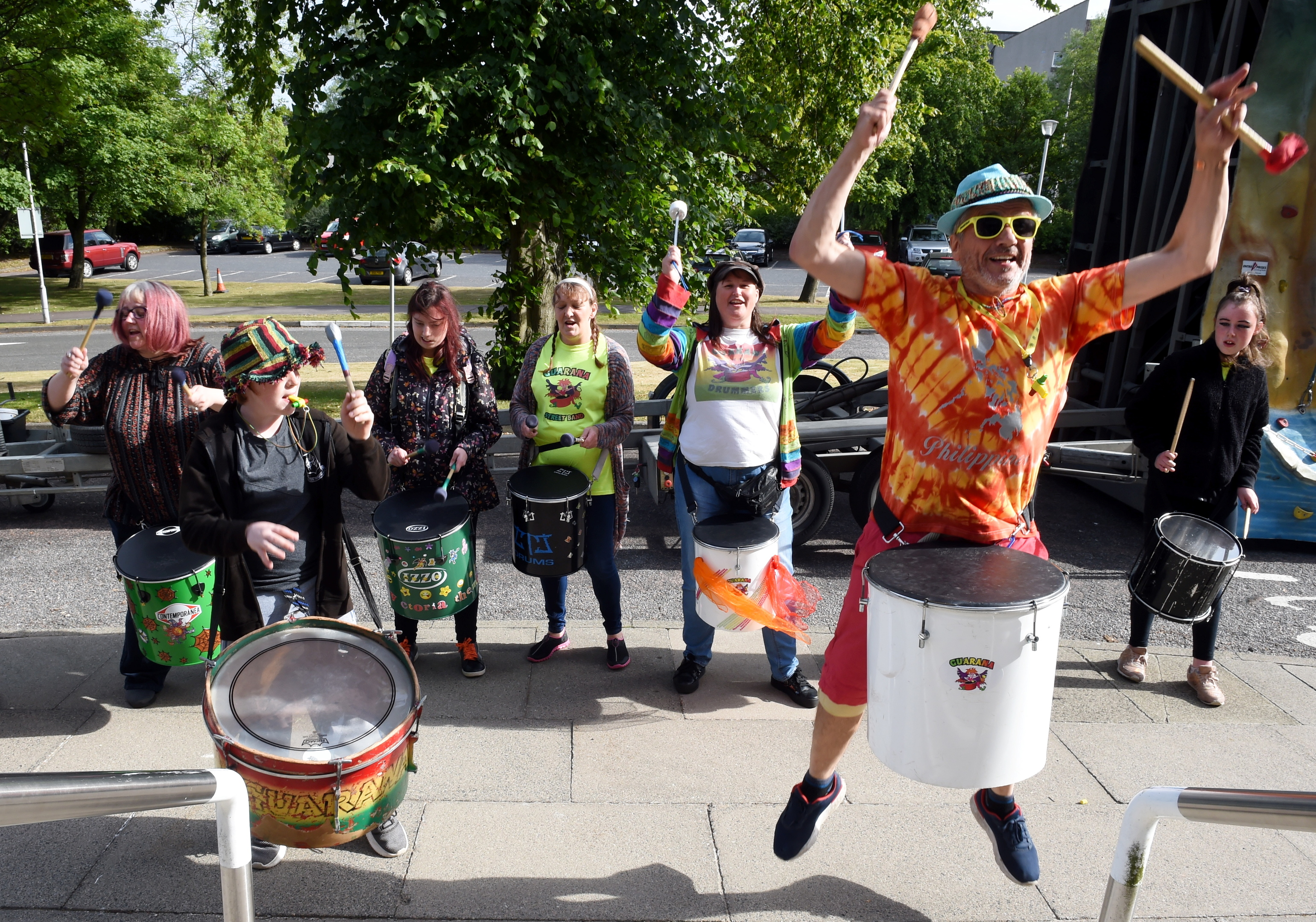 The Aberdeenshire council Culture and Physical strategy at Woodhill House, Aberdeen. In the picture is the Guarana Street drummers.  Picture by Jim Irvine  5-7-18