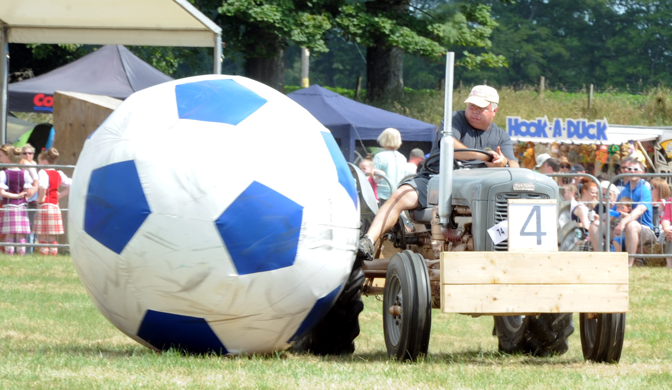Thousands flocked to see the vintage tractor football at the 2018 Fettercairn Show. Picture by Jim Irvine